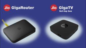 jio giga router, jio gigatv set top box